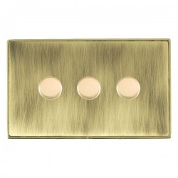 Hamilton Linea-Duo CFX Polished Brass/Antique Brass 3 Gang 100W 2 Way LEDIT-B100 LED Dimmer