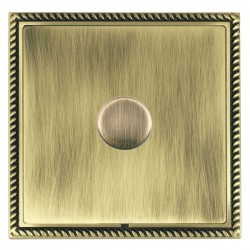 Hamilton Linea-Georgian CFX Antique Brass/Antique Brass 1 Gang 100W 2 Way LEDIT-B100 LED Dimmer