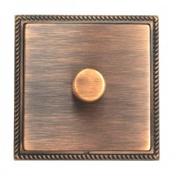 Hamilton Linea-Georgian CFX Copper Bronze/Copper Bronze 1 Gang 100W 2 Way LEDIT-B100 LED Dimmer