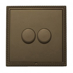 Hamilton Linea-Georgian CFX Richmond Bronze/Richmond Bronze 2 Gang 100W 2 Way LEDIT-B100 LED Dimmer