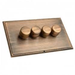 Hamilton Linea-Perlina CFX Copper Bronze/Copper Bronze 4 Gang 100W 2 Way LEDIT-B100 LED Dimmer