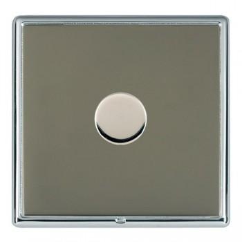 Hamilton Linea-Rondo CFX Bright Chrome/Black Nickel 1 Gang 100W 2 Way LEDIT-B100 LED Dimmer