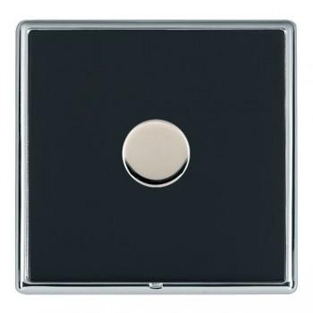 Hamilton Linea-Rondo CFX Bright Chrome/Piano Black 1 Gang 100W 2 Way LEDIT-B100 LED Dimmer