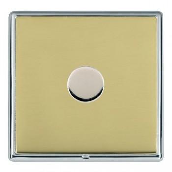Hamilton Linea-Rondo CFX Bright Chrome/Polished Brass 1 Gang 100W 2 Way LEDIT-B100 LED Dimmer
