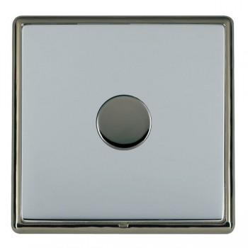 Hamilton Linea-Rondo CFX Black Nickel/Bright Steel 1 Gang 100W 2 Way LEDIT-B100 LED Dimmer