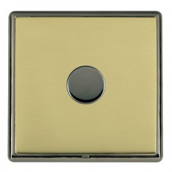 Hamilton Linea-Rondo CFX Black Nickel/Polished Brass 1 Gang 100W 2 Way LEDIT-B100 LED Dimmer