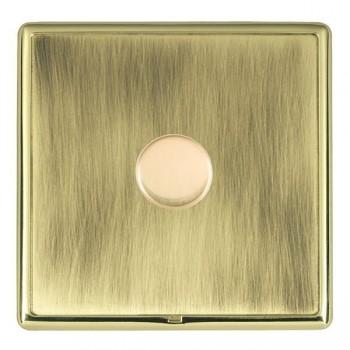 Hamilton Linea-Rondo CFX Polished Brass/Antique Brass 1 Gang 100W 2 Way LEDIT-B100 LED Dimmer
