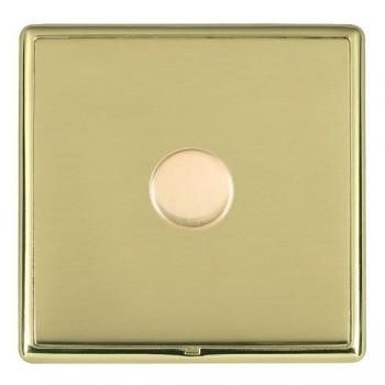 Hamilton Linea-Rondo CFX Polished Brass/Polished Brass 1 Gang 100W 2 Way LEDIT-B100 LED Dimmer