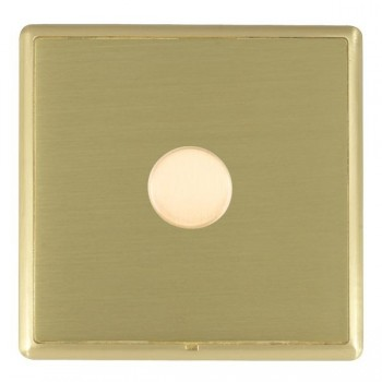 Hamilton Linea-Rondo CFX Satin Brass/Satin Brass 1 Gang 100W 2 Way LEDIT-B100 LED Dimmer