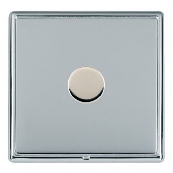 Hamilton Linea-Rondo CFX Bright Chrome/Bright Steel 1 Gang 100W 2 Way LEDIT-B100 LED Dimmer