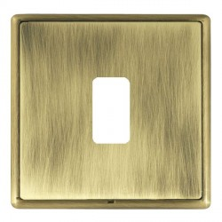 Hamilton Linea-Rondo CFX Antique Brass/Antique Brass 1 Gang Grid Fix Aperture Plate with Grid