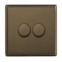 Hamilton Linea-Rondo CFX Richmond Bronze/Richmond Bronze 2 Gang 100W 2 Way LEDIT-B100 LED Dimmer