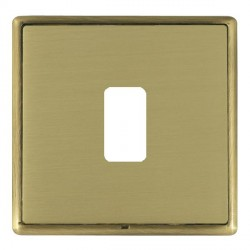 Hamilton Linea-Rondo CFX Antique Brass/Satin Brass 1 Gang Grid Fix Aperture Plate with Grid