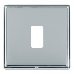 Hamilton Linea-Rondo CFX Bright Chrome/Bright Steel 1 Gang Grid Fix Aperture Plate with Grid