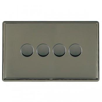 Hamilton Linea-Rondo CFX Black Nickel/Black Nickel 4 Gang 100W 2 Way LEDIT-B100 LED Dimmer
