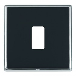 Hamilton Linea-Rondo CFX Bright Chrome/Piano Black 1 Gang Grid Fix Aperture Plate with Grid