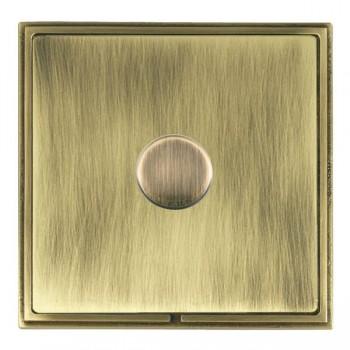 Hamilton Linea-Scala CFX Antique Brass/Antique Brass 1 Gang 100W 2 Way LEDIT-B100 LED Dimmer