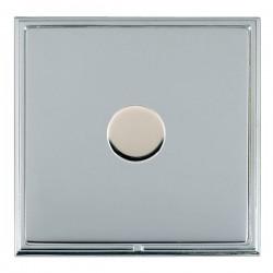 Hamilton Linea-Scala CFX Bright Chrome/Bright Steel 1 Gang 100W 2 Way LEDIT-B100 LED Dimmer
