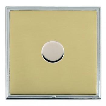 Hamilton Linea-Scala CFX Bright Chrome/Polished Brass 1 Gang 100W 2 Way LEDIT-B100 LED Dimmer