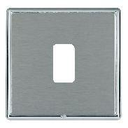 Hamilton Linea-Rondo CFX Bright Chrome/Satin Steel 1 Gang Grid Fix Aperture Plate with Grid