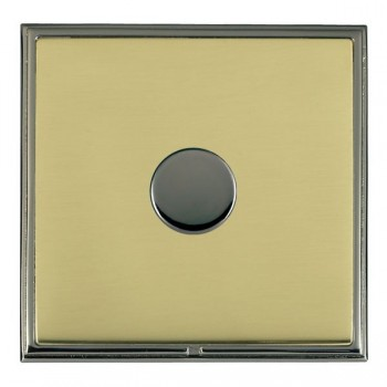 Hamilton Linea-Scala CFX Black Nickel/Polished Brass 1 Gang 100W 2 Way LEDIT-B100 LED Dimmer