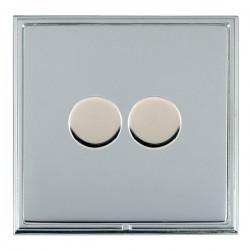 Hamilton Linea-Scala CFX Bright Chrome/Bright Steel 2 Gang 100W 2 Way LEDIT-B100 LED Dimmer