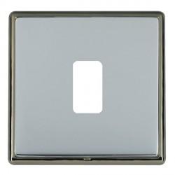 Hamilton Linea-Rondo CFX Black Nickel/Bright Steel 1 Gang Grid Fix Aperture Plate with Grid