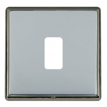 Hamilton Linea-Rondo CFX Black Nickel/Bright Steel 1 Gang Grid Fix Aperture Plate with Grid