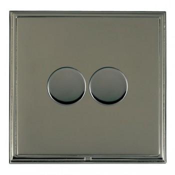 Hamilton Linea-Scala CFX Black Nickel/Black Nickel 2 Gang 100W 2 Way LEDIT-B100 LED Dimmer