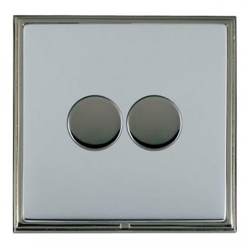 Hamilton Linea-Scala CFX Black Nickel/Bright Steel 2 Gang 100W 2 Way LEDIT-B100 LED Dimmer