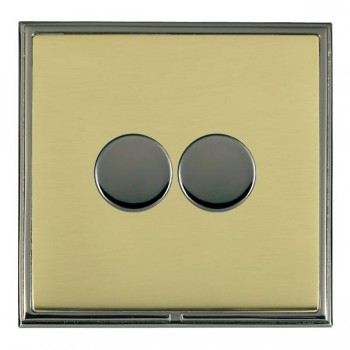 Hamilton Linea-Scala CFX Black Nickel/Polished Brass 2 Gang 100W 2 Way LEDIT-B100 LED Dimmer