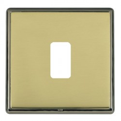 Hamilton Linea-Rondo CFX Black Nickel/Polished Brass 1 Gang Grid Fix Aperture Plate with Grid