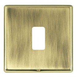 Hamilton Linea-Rondo CFX Polished Brass/Antique Brass 1 Gang Grid Fix Aperture Plate with Grid
