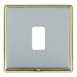 Hamilton Linea-Rondo CFX Polished Brass/Bright Steel 1 Gang Grid Fix Aperture Plate with Grid