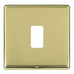 Hamilton Linea-Rondo CFX Polished Brass/Polished Brass 1 Gang Grid Fix Aperture Plate with Grid