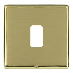 Hamilton Linea-Rondo CFX Polished Brass/Satin Brass 1 Gang Grid Fix Aperture Plate with Grid