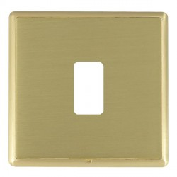 Hamilton Linea-Rondo CFX Satin Brass/Satin Brass 1 Gang Grid Fix Aperture Plate with Grid