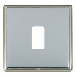 Hamilton Linea-Rondo CFX Satin Nickel/Bright Steel 1 Gang Grid Fix Aperture Plate with Grid