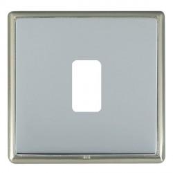 Hamilton Linea-Rondo CFX Satin Nickel/Bright Steel 1 Gang Grid Fix Aperture Plate with Grid