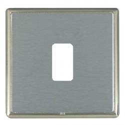 Hamilton Linea-Rondo CFX Satin Nickel/Satin Steel 1 Gang Grid Fix Aperture Plate with Grid