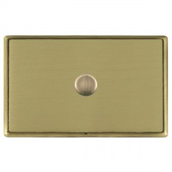 Hamilton Linea-Rondo CFX Antique Brass/Satin Brass Push On/Off Dimmer 1 Gang 2 way with Antique Brass Ins...