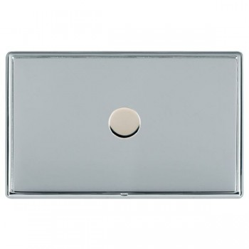Hamilton Linea-Rondo CFX Bright Chrome/Bright Chrome Push On/Off Dimmer 1 Gang 2 way with Bright Chrome Insert