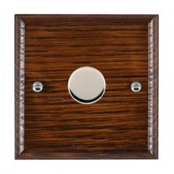 Hamilton Woods Ovolo Antique Mahogany 1 Gang 100W 2 Way LEDIT-B100 LED Dimmer with Bright Chrome Knob