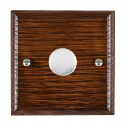 Hamilton Woods Ovolo Antique Mahogany 1 Gang 100W 2 Way LEDIT-B100 LED Dimmer with Satin Chrome Knob