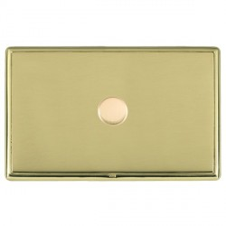 Hamilton Linea-Rondo CFX Polished Brass/Polished Brass Push On/Off Dimmer 1 Gang 2 way with Polished Bras...