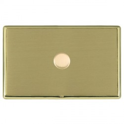 Hamilton Linea-Rondo CFX Polished Brass/Satin Brass Push On/Off Dimmer 1 Gang 2 way with Polished Brass I...