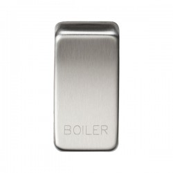 Knightsbridge Grid Brushed Chrome Module Rocker Switch Cover Marked 'BOILER'