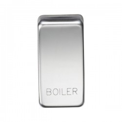 Knightsbridge Grid Polished Chrome Module Rocker Switch Cover Marked 'BOILER'