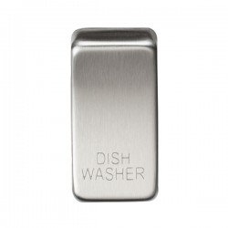 Knightsbridge Grid Brushed Chrome Module Rocker Switch Cover Marked 'DISH WASHER'