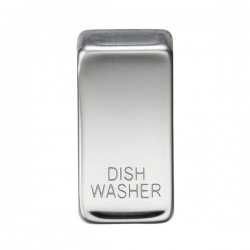 Knightsbridge Grid Polished Chrome Module Rocker Switch Cover Marked 'DISH WASHER'